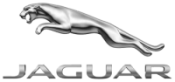 Jaguar logo or emblem with silver Jaguar jumping over the name JAGUAR.